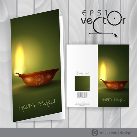 Greeting Card Design, Template. Vector Illustration. Eps 10 Vector