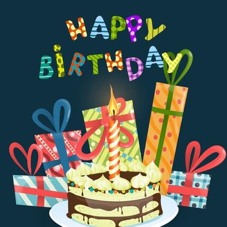 happy birthday cartoon: Colorful Birthday Background