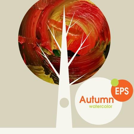 Creative Autumn Background. Vector Illustration. Eps 10