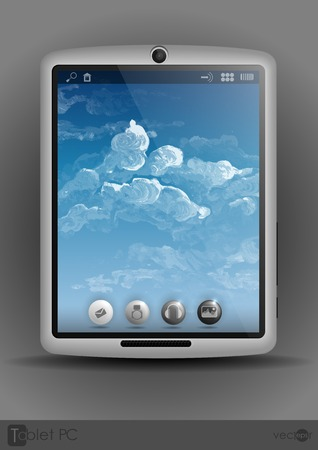 computador tablet: Tablet Computer, Telefone Móvel. Ilustração