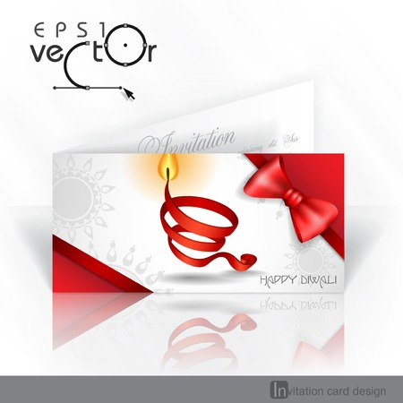 open flame: Invitation Card Design, Template