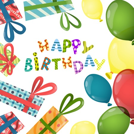 Colorful Birthday Background. Vector Illustration. Eps 10 Vector