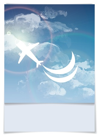 cloud background: Greeting Card Design, Template