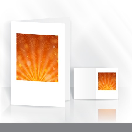 open flame: Greeting Card Design, Template
