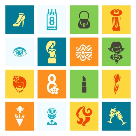 womans day: Womans Day Icon Set