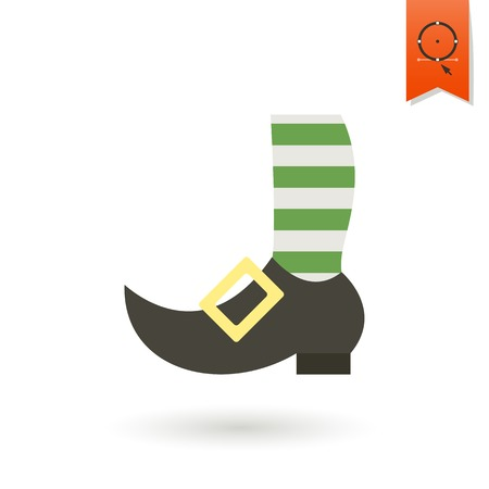 knee sock: Saint Patricks Day Icon Illustration