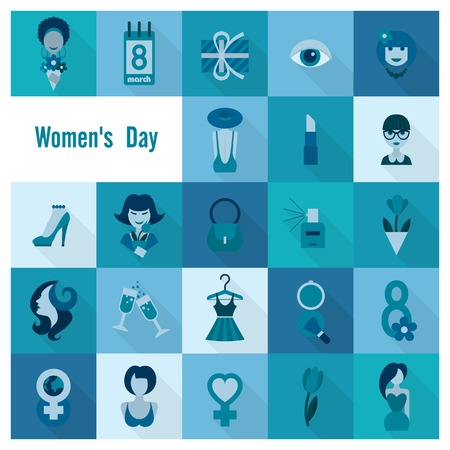 Womans Day Icon Set photo