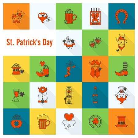 Saint Patricks Day Icon Set photo