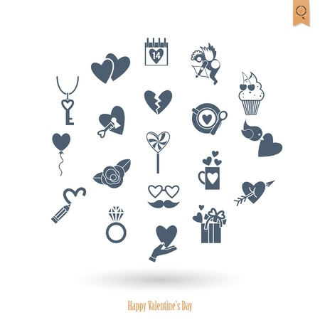 happy valentines: Happy Valentines Day Icons