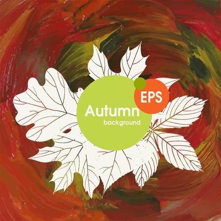 hintergrund herbst: Magie Herbst Hintergrund Illustration