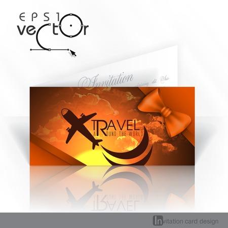 Invitation Card Design, Template Vector