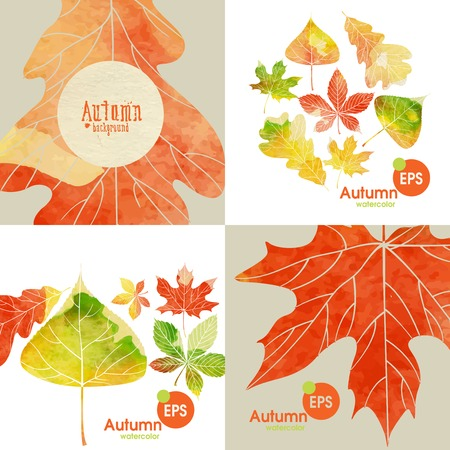 poplar: Autumnal Background Set