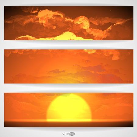 sunrise clouds: Sunset, Sunrise With Clouds Illustration