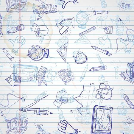 art supplies: School Background Illustration