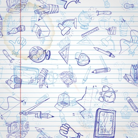 School Background Illustration