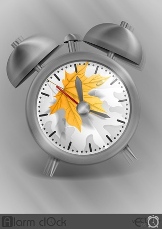 classic style: Metal Classic Style Alarm Clock Illustration