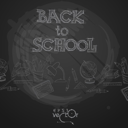 black: Back To School Background