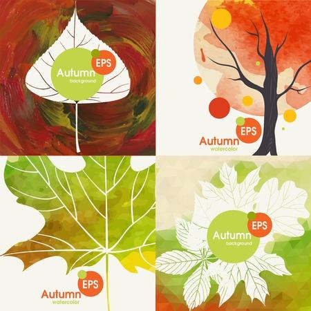 autumnal: Autumnal Background Set