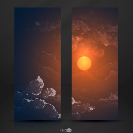 sunset clouds: Sunset, Sunrise With Clouds Illustration