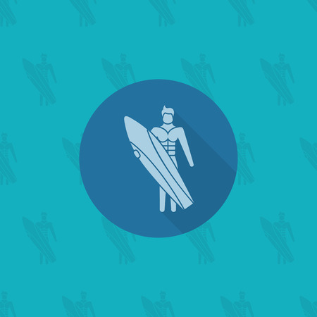 sexy men: Summer and Beach Simple Flat Icon, Travel and Vacation. Vector