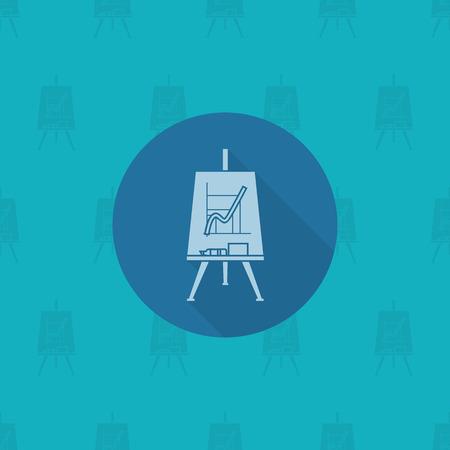 flipchart: School and Education Icon - Flipchart. Vector. Flat design style