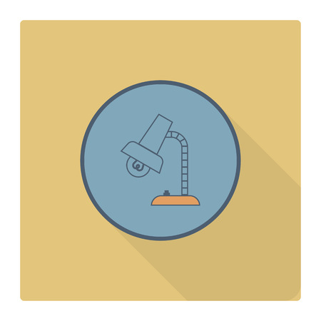 table lamp: School and Education Icon - Table Lamp. Vector. Flat design style