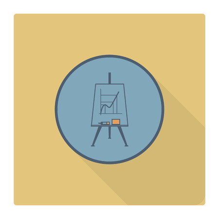 flipchart: School and Education Icon - Flipchart. . Flat design style