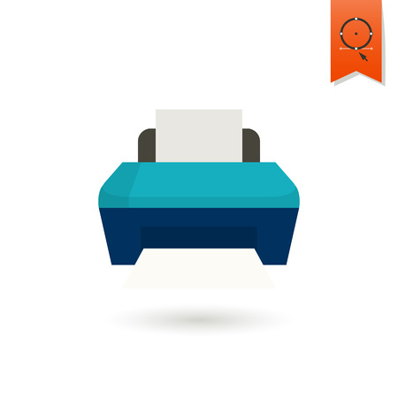 mfp: Printer. Business and Finance, Single Flat Icon. Simple and Minimalistic Style. Vector