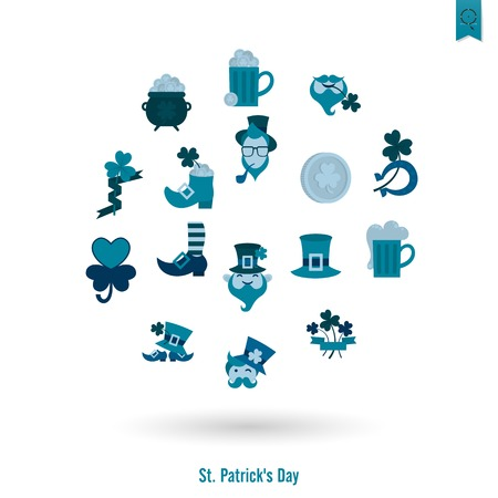 isolated icon: Saint Patricks Day Isolated Icon Set Vettoriali