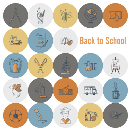 scissors icon: School and Education Icon Set. Flat design style. Vector