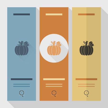 fall harvest: Pumpkin. Single Flat Autumn Icon . Simple and Minimalistic Style.