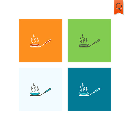 Barbecue Grill Sausages. Oktoberfest Beer Festival. Flat design style. Vector Illustration