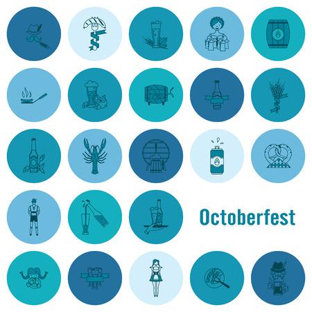 lobster: Oktoberfest Beer Festival. Flat design style. Vector