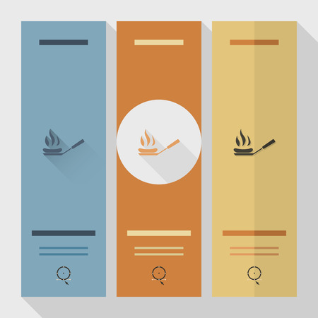 Barbecue Grill Sausages. Oktoberfest Beer Festival. Long Shadow. Flat design style. Vector