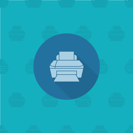 mfp: Printer. Business and Finance, Single Flat Icon. Simple and Minimalistic Style.