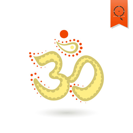 zen aum: Diwali. Indian Festival Icon. Simple and Minimalistic Style. Vector