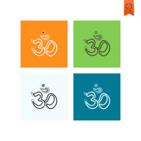 spiritual energy: Diwali. Indian Festival Icon. Simple and Minimalistic Style. Vector