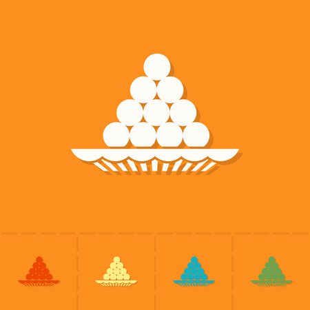 pooja: Diwali. Indian Festival Icon. Simple and Minimalistic Style. Vector