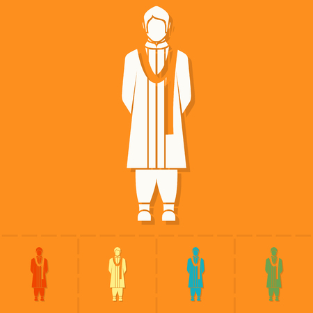 prayer shawl: Diwali. Indian Festival Icon. Simple and Minimalistic Style. Vector