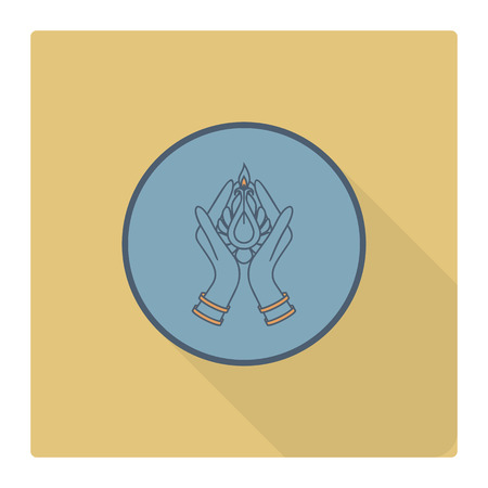 glows: Diwali. Indian Festival Icon. Simple and Minimalistic Style.