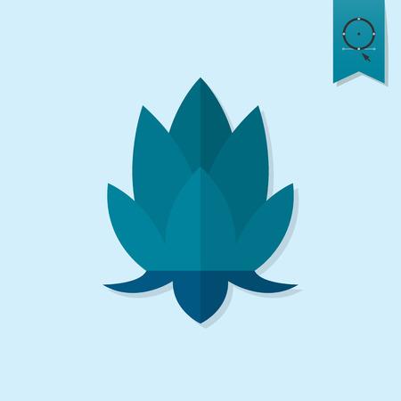 flor de loto: Diwali. Icono Festival indio. Simple y minimalista Estilo. Vector