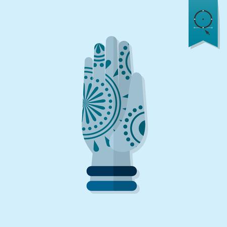 ashram: Diwali. Indian Festival Icon. Simple and Minimalistic Style. Vector