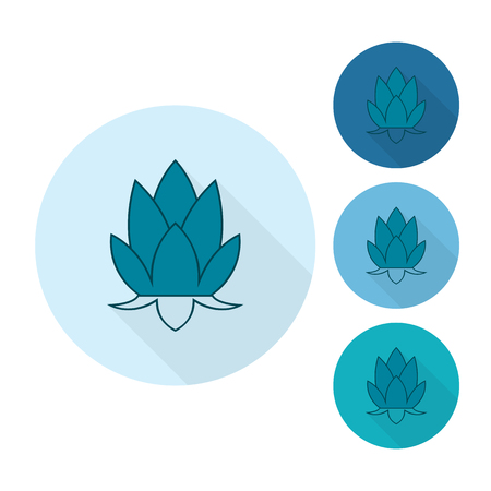 buddha lotus: Diwali. Indian Festival Icon. Simple and Minimalistic Style. Vector
