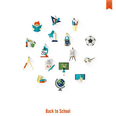 school icon: School and Education Icon Set.