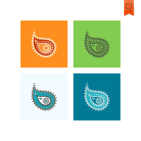 swirl patterns: Diwali. Indian Festival Icon. Simple and Minimalistic Style. Stock Photo