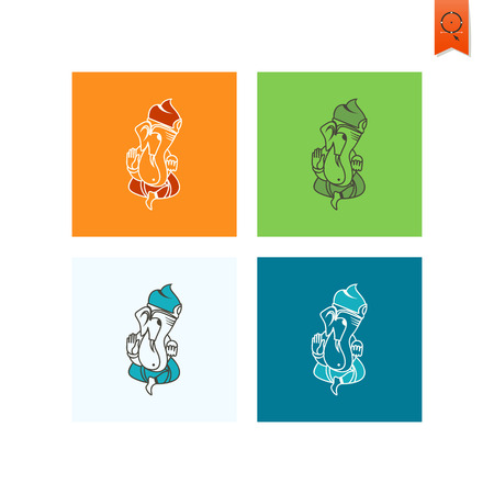 ganapati: Diwali. Indian Festival Icon. Simple and Minimalistic Style. Stock Photo