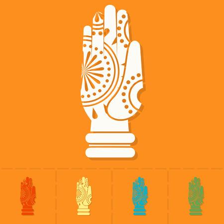ashram: Diwali. Indian Festival Icon. Simple and Minimalistic Style. Stock Photo