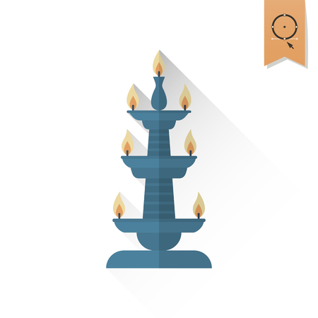dipawali: Diwali. Indian Festival Icon. Simple and Minimalistic Style. Stock Photo