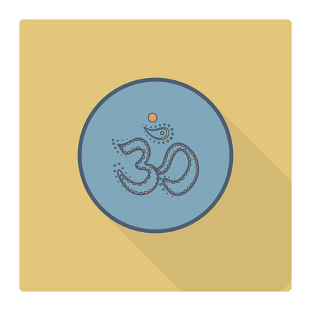 zen aum: Diwali. Indian Festival Icon. Simple and Minimalistic Style. Stock Photo