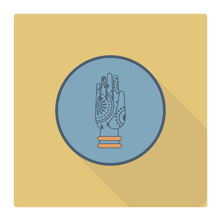 karma design: Diwali. Indian Festival Icon. Simple and Minimalistic Style. Stock Photo